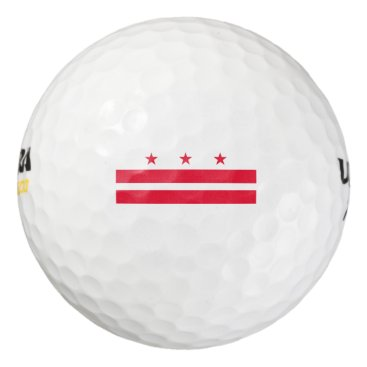 USA Themed District of Columbia Golf Balls