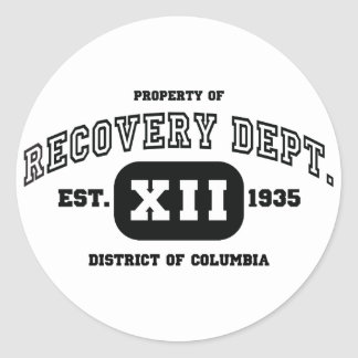 DISTRICT OF COLUMBIA Recovery Classic Round Sticker