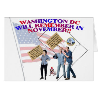 District Of Columbia Return Congress To The People Greeting Card