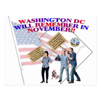 District Of Columbia Return Congress To The People Postcard