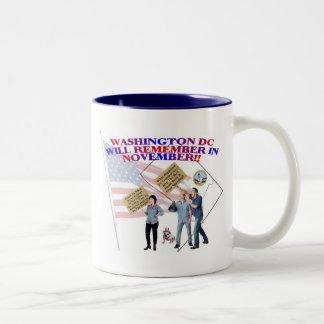 District Of Columbia Return Congress To The People Two-Tone Coffee Mug