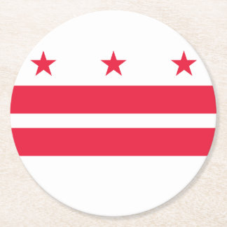 District of Columbia Round Paper Coaster