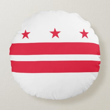 USA Themed District of Columbia Round Pillow