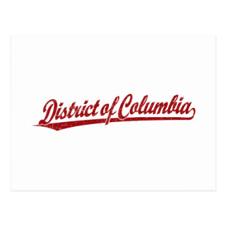 District of Columbia script logo in red Postcard
