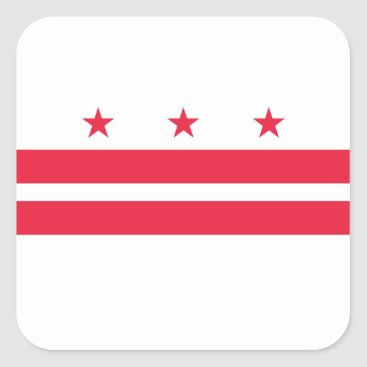 USA Themed District of Columbia Square Sticker