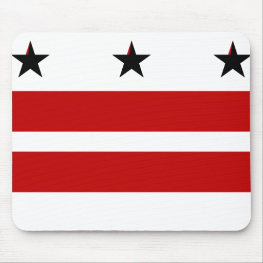 District of Columbia State Flag Mousepad