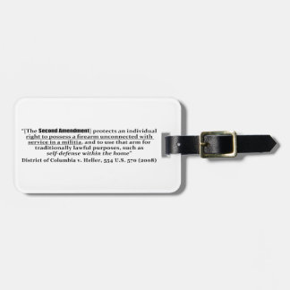 District of Columbia v Heller, 554 U.S. 570 2008 Luggage Tag