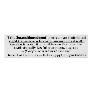 District of Columbia v Heller, 554 U.S. 570 2008 Posters