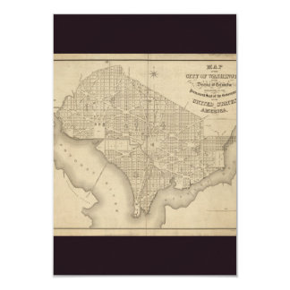 District of Columbia Washington Old Map Card