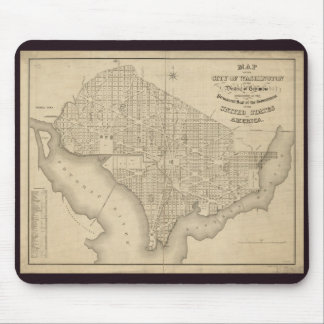 District of Columbia Washington Old Map Mouse Pad