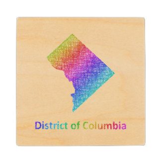 District of Columbia Wood Coaster