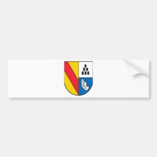 Distrito administrativo Emmendingen escudo de arma Pegatina De Parachoque