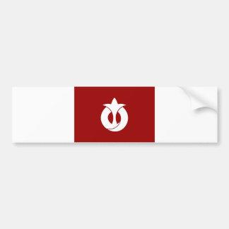 distrito aichi de la bandera de la región de la pr pegatina para auto