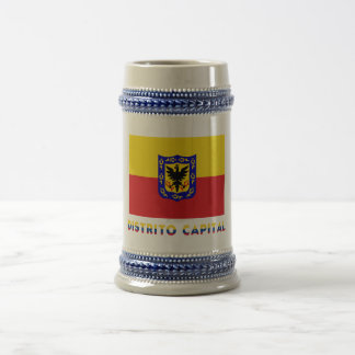 Distrito Capital Flag with Name 18 Oz Beer Stein