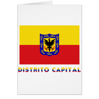 Distrito Capital Flag with Name Greeting Cards