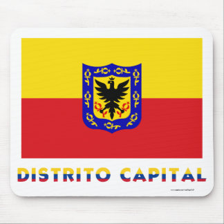 Distrito Capital Flag with Name Mouse Pad
