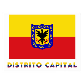 Distrito Capital Flag with Name Postcard