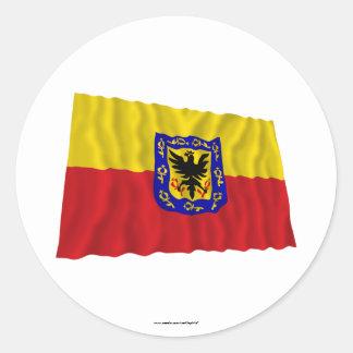 Distrito Capital Waving Flag Round Stickers