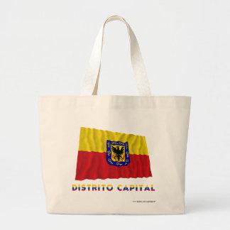 Distrito Capital Waving Flag with Name Canvas Bags
