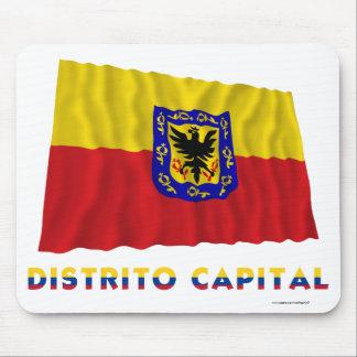 Distrito Capital Waving Flag with Name Mouse Pad