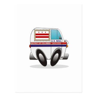 DISTRITO DE COLUMBIA del camión de correo Postales