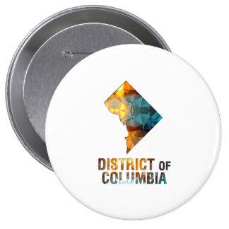 DISTRITO DE COLUMBIA del mapa del estado del Pins