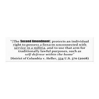Distrito de Columbia v Heller, los 554 E.E.U.U. 57 Impresión En Lienzo