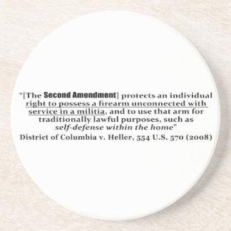 Distrito de Columbia v Heller, los 554 E.E.U.U. 57 Posavasos Manualidades