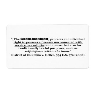 Distrito de Columbia v Heller, los 554 E.E.U.U. Etiqueta De Envío