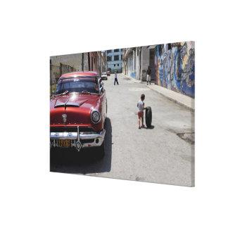 Distrito de Hamel del africano, La Habana, Cuba, Impresion De Lienzo
