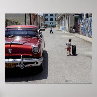 Distrito de Hamel del africano, La Habana, Cuba, l Póster