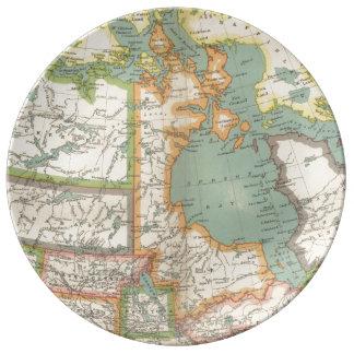 Distrito de Keewatin y de la Bahía de Hudson (C. Platos De Cerámica