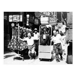 distrito de la ropa de los años 50, foto de New Tarjetas Postales