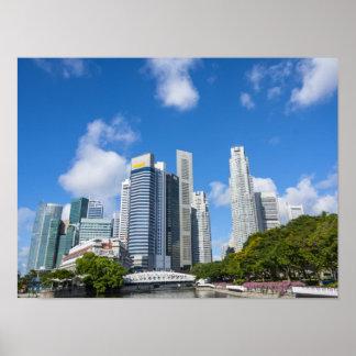 Distrito de las finanzas de Singapur Póster