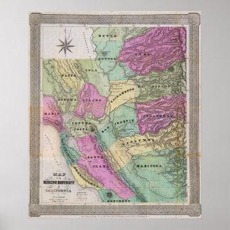 Distrito de mina de California Posters