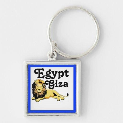 Distrito del EL Dokki de Africankoko, Giza, Egipto Llavero Cuadrado Plateado