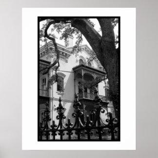 Distrito del jardín de New Orleans Poster