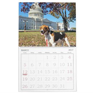 Distrito del perro calendario de 18 meses