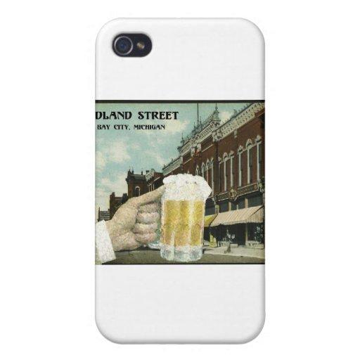 Distrito del Pub de la calle de Midland iPhone 4 Funda