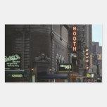 Distrito del teatro del vintage del pegatina NYC
