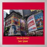 Distrito del teatro - poster del Times Square