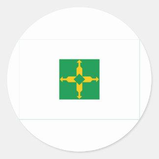 Distrito federal, bandera del Brasil Pegatina Redonda