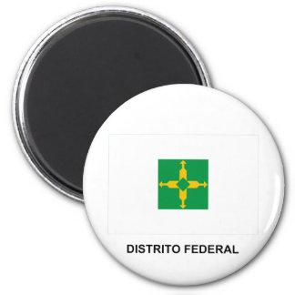 Distrito Federal, Brazil Flag Fridge Magnet