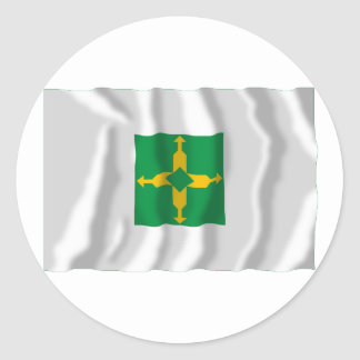 Distrito Federal, Brazil Waving Flag Classic Round Sticker