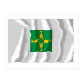 Distrito Federal, Brazil Waving Flag Postcard