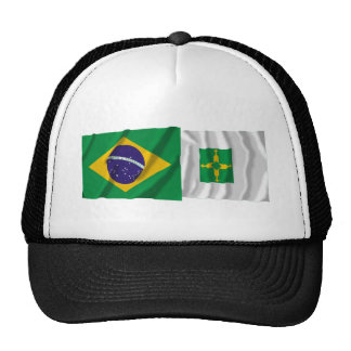 Distrito Federal & Brazil Waving Flags Trucker Hat