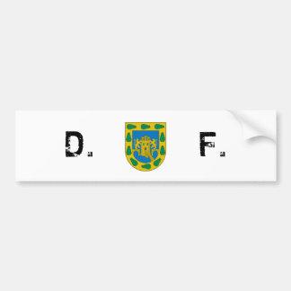 Distrito federal, D.F./DF, bandera de Ciudad de Mé Pegatina Para Auto