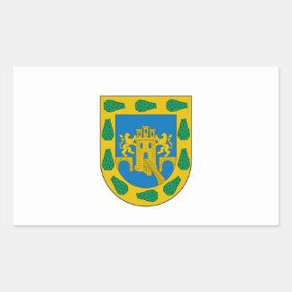 Distrito federal, D.F./DF, bandera de Ciudad de Pegatina Rectangular