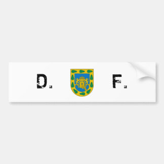 Distrito Federal, D.F./DF, Mexico City Flag Bumper Sticker