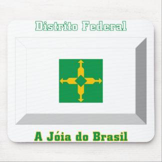 Distrito Federal Flag Gem Mouse Pad